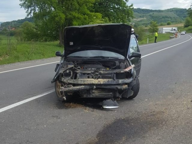 Accident cu doi raniti la Tarnava 1